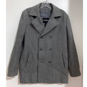 Express Wool Blend Peacoat Size Small